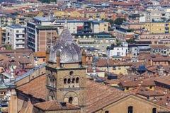 Luftpanorama von Bologna stockfotografie
