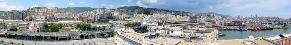 Luftpanorama von Genua, Italien lizenzfreie stockfotos