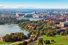 Luftpanorama von Stockholm, Schweden lizenzfreie stockfotografie