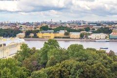 Luftpanoramaansicht von St Petersburg Stockbilder