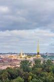 Luftpanoramaansicht von St Petersburg Lizenzfreies Stockfoto