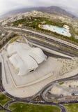 Luftpanoramablick von Costa Adeje-Stadt in Teneriffa Stockfotografie