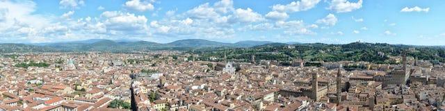Luftpanoramablick von Florenz, Florenz, Italien lizenzfreies stockfoto