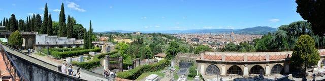Luftpanoramablick von Florenz, Florenz, Italien stockfoto