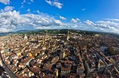 Luftpanoramablick von Florenz von einem vieler Türme, Toskana Lizenzfreies Stockfoto