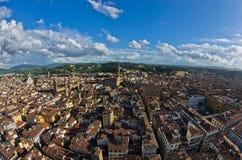Luftpanoramablick von Florenz von einem vieler Türme, Toskana Stockbilder