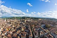 Luftpanoramablick von Florenz von einem vieler Türme, Toskana Lizenzfreie Stockfotos