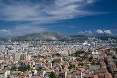 Luftpanoramablick von Marseille-Stadt Lizenzfreies Stockbild