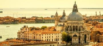 Luftpanoramablick von Venedig, Italien lizenzfreies stockbild