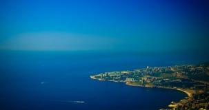 Luftpanoramablick zu Jounieh-Stadt und zur Bucht, der Libanon Lizenzfreie Stockfotos