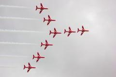 luftpilar visar red Arkivfoto