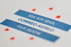 Luftpost Stockbild