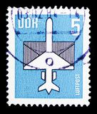 Luftpost, serie, circa 1983 stockfotografie