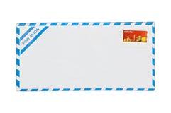 Luftpost Umschlag getrennt. lizenzfreies stockfoto
