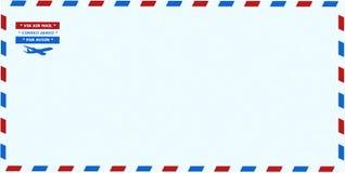 Luftpost-Umschlag, stationär, lokalisiert, Post stockfoto