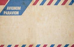 Luftpost-Weinleseumschlag lizenzfreies stockfoto