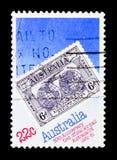 Luftpost 50., Weltstempel-Ausstellung serie, circa 1981 lizenzfreie stockfotos