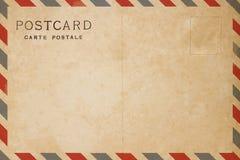 Luftpostpostkarte stockfotos