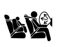 Luftsack-Symbol Stockfoto
