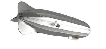 Luftschiff auf Weiß, lenkbares, Flugzeug, Zeppelin, 3d übertragen stock abbildung