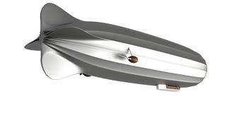 Luftschiff auf weißem, 3d übertragen lizenzfreie abbildung