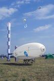 Luftschiff an MAKS-internationalem Luftfahrtsalon Lizenzfreies Stockfoto