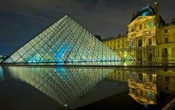 Luftschlitz-Museum nachts, Paris lizenzfreie stockfotos