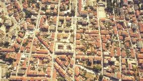 Luftschuß des Blockmusters in der Stadt von Pula, Kroatien Stockfotos