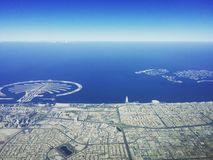 Luftschuß Dubai UAE Stockfoto