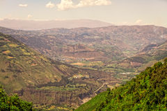Luftschuß von Banos De Agua Sankt, Südamerika Lizenzfreie Stockbilder
