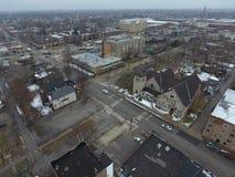 Luftschuß von Chicago Illinois Stockfotografie