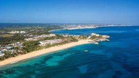 Luftschuß von Puerto Rico Beach lizenzfreie stockfotos