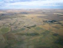 Luftschuß von Saskatchewan Stockfotografie
