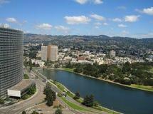 Luftschuß von See Merritt, Oakland Lizenzfreie Stockbilder