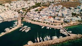 Luftschuß von Griechenland-Insel stock video