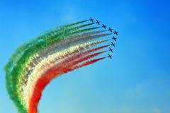 Luftshow vom Boden Lizenzfreie Stockfotos