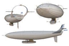 Luftskepp vektor illustrationer