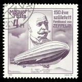 Luftskeppformgivare Ferdinand von Zeppelin arkivbild