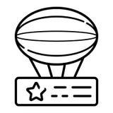Luftskeppsymbolsvektor royaltyfri illustrationer