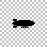 Luftskeppzeppelinaresymbol framl?nges stock illustrationer