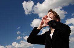 luftskrik till Fotografering för Bildbyråer