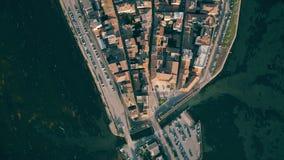 Luftspitze hinunter Ansicht der Stadt von Orbetello Toskana, Italien stockfoto