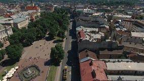 Luftstadt Lemberg, Ukraine stock video footage