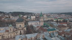 Luftstadt Lemberg, Ukraine Europ?ische Stadt Popul?re Bereiche der Stadt dominikanisch stockfoto