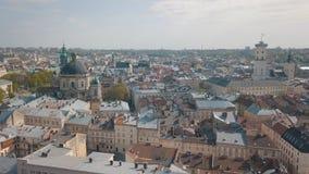 Luftstadt Lemberg, Ukraine Europ?ische Stadt Popul?re Bereiche der Stadt dominikanisch stockbilder