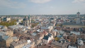 Luftstadt Lemberg, Ukraine Europ?ische Stadt Popul?re Bereiche der Stadt dominikanisch stockbild