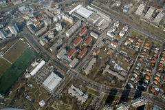 Luftstadtansicht Lizenzfreie Stockfotografie
