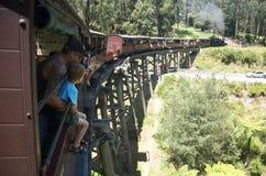 Luftstoßender Billy, der die Gestell-Brücke kreuzt Lizenzfreies Stockbild