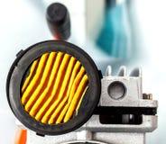 Luftström i luftkompressor royaltyfria bilder