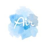 Luftsymbol av de fyra beståndsdelarna royaltyfria foton